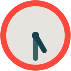 Clock Face Five-thirty mozilla emoji