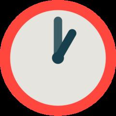 Clock Face One Oclock mozilla emoji