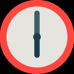 Clock Face Six Oclock mozilla emoji