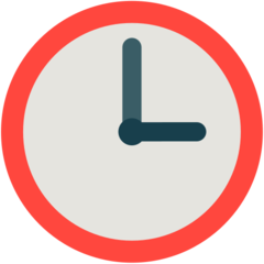 Clock Face Three Oclock mozilla emoji
