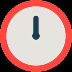 Clock Face Twelve Oclock mozilla emoji