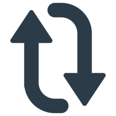 Clockwise Downwards And Upwards Open Circle Arrows mozilla emoji