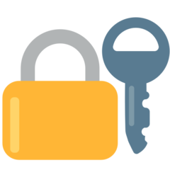 Closed Lock With Key mozilla emoji