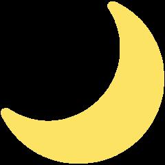 Crescent Moon mozilla emoji