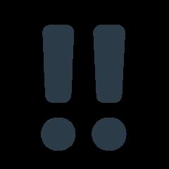 Double Exclamation Mark mozilla emoji