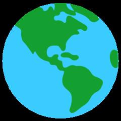 Earth Globe Americas mozilla emoji