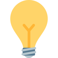 Electric Light Bulb mozilla emoji
