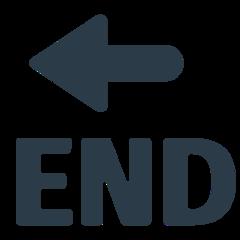 End With Leftwards Arrow Above mozilla emoji