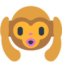 Hear-no-evil Monkey mozilla emoji