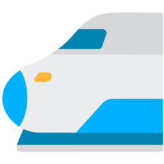 High-speed Train With Bullet Nose mozilla emoji