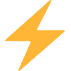 High Voltage Sign mozilla emoji