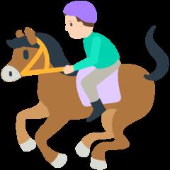 Horse Racing mozilla emoji