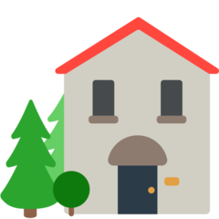 House With Garden mozilla emoji