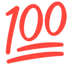 Hundred Points Symbol mozilla emoji