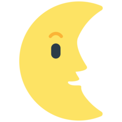 Last Quarter Moon With Face mozilla emoji