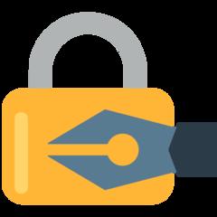 Lock With Ink Pen mozilla emoji