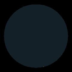 Medium Black Circle mozilla emoji