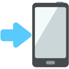 Mobile Phone With Rightwards Arrow At Left mozilla emoji