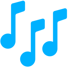 Multiple Musical Notes mozilla emoji