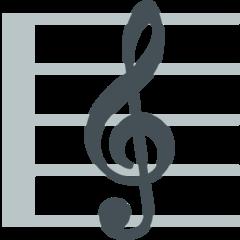Musical Score mozilla emoji