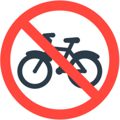 No Bicycles mozilla emoji