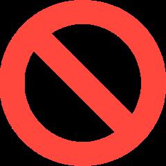 No Entry Sign mozilla emoji