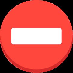 No Entry mozilla emoji