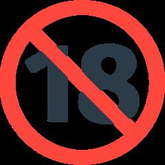 No One Under Eighteen Symbol mozilla emoji