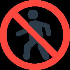 No Pedestrians mozilla emoji