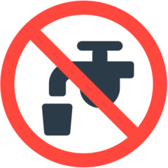 Non-potable Water Symbol mozilla emoji