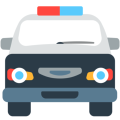 Oncoming Police Car mozilla emoji