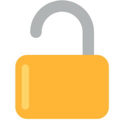 Open Lock mozilla emoji