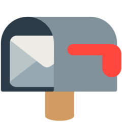 Open Mailbox With Lowered Flag mozilla emoji