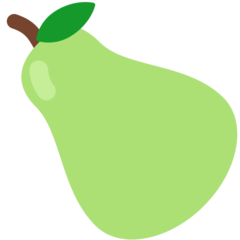 Pear mozilla emoji