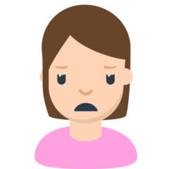 Person Frowning mozilla emoji