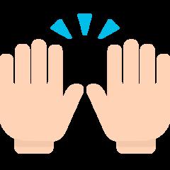Person Raising Both Hands In Celebration mozilla emoji