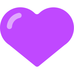 Purple Heart mozilla emoji