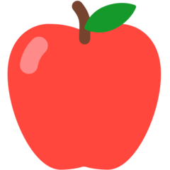 Red Apple mozilla emoji