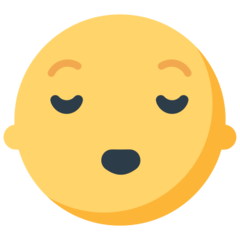 Relieved Face mozilla emoji