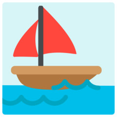 Sailboat mozilla emoji