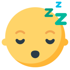 Sleeping Face mozilla emoji