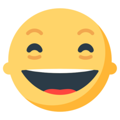 Smiling Face With Open Mouth And Smiling Eyes mozilla emoji