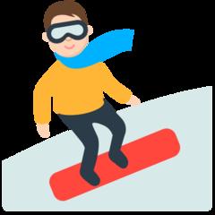 Snowboarder mozilla emoji
