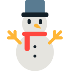 Snowman Without Snow mozilla emoji
