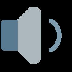 Speaker With One Sound Wave mozilla emoji