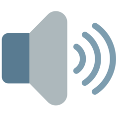 Speaker With Three Sound Waves mozilla emoji