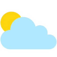 Sun Behind Cloud mozilla emoji