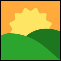 Sunrise Over Mountains mozilla emoji