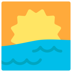 Sunrise mozilla emoji