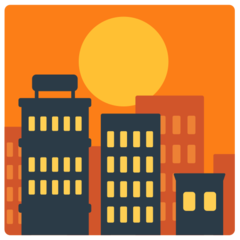Sunset Over Buildings mozilla emoji